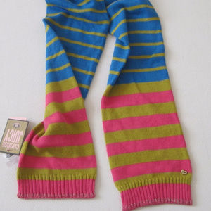 JUICY COUTURE Scarf Striped Knitted Multicolor New